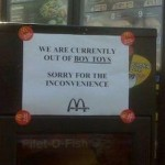 Now Available At McDonalds…. Boy Toys!