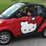 It Takes a Real Man to Drive a Hello Kitty Smart Car