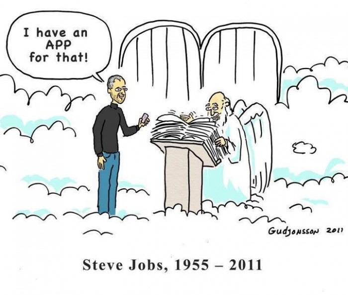 I have an App for that Steve Jobs in heaven
