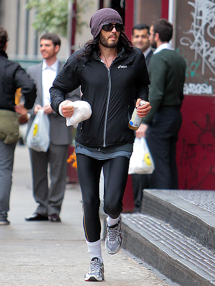 Russell Brand in Spandex and tube socks on the other hand? Totally not sexy.