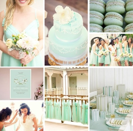 The Season S Mint Trend Hits Weddings And We Love It