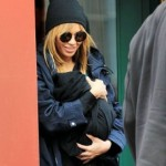 Spotted: Beyonce Nursing Blue Ivy Carter In New York City