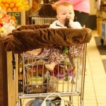 You Need This! A Cozy Shopping Cart Cover Like The One Haven Warren Is Sitting In