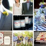 Throw A Picnic-Themed Wedding With Sweet Gingham Decor: Linens, Bow-Ties, Invites, More