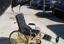 Lady Gaga's Gold Plated Wheelchair